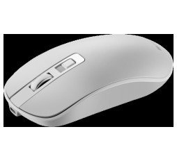 Slika izdelka: 2.4GHz Wireless Rechargeable Mouse with Pixart sensor, 4keys, Silent switch for right/left keys,DPI: 800/1200/1600, Max. usage 50 hours for one time full charged, 300mAh Li-poly battery, Pearl-White, cable length 0.6m, 116.4*63.3*32.3mm, 0.075kg