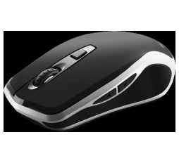 Slika izdelka: 2.4GHz Wireless Rechargeable Mouse with Pixart sensor, 6keys, Silent switch for right/left keys,DPI: 800/1200/1600, Max. usage 50 hours for one time full charged, 300mAh Li-poly battery, Black -Silver, cable length 0.6m, 121*70*39mm, 0.103kg