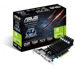 ASUS Geforce GT 730 1GB GDDR3 PCI-E Silent Low Profile (GT730-SL-1GD3-BRK) grafična kartica slika
