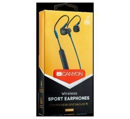 Slika izdelka: CANYON Bluetooth sport earphones with microphone, cable length 0.3m, 18*25*22mm, 0.028kg, Blue