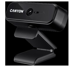 Slika izdelka: CANYON C2N 1080P full HD 2.0Mega fixed focus webcam with USB2.0 connector, 360 degree rotary view scope, built in MIC, Resolution 1920*1080, viewing angle 88°, cable length 1.5m, 90*60*55mm, 0.095kg, Black