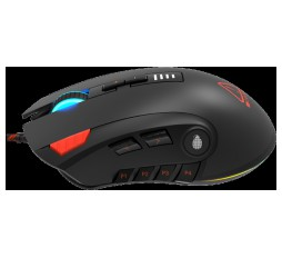 Slika izdelka: CANYON,Gaming Mouse with 12 programmable buttons, Sunplus 6662 optical sensor, 6 levels of DPI and up to 5000, 10 million times key life, 1.8m Braided cable, UPE feet and colorful RGB lights, Black, size:124x79x43.5mm, 148g