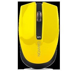 Slika izdelka: CANYON 2.4GHz wireless Optical  Mouse with 4 buttons, Optical 800/1200/1600, power saving technology), Yellow, 100*50*31.2mm, 0,051kg