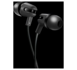 Slika izdelka: CANYON Stereo earphone with microphone, 1.2m flat cable, Black, 22*12*12mm, 0.013kg