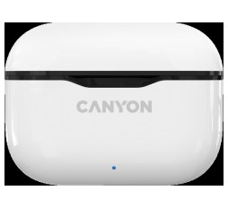 Slika izdelka: Canyon TWS-3 Bluetooth headset, with microphone, BT V5.0, Bluetrum AB5376A2, battery EarBud 40mAh*2+Charging Case 300mAh, cable length 0.3m, 62*22*46mm, 0.046kg, White