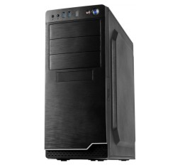 Slika izdelka: Chassis INTER-TECH IT-5916 Midi Tower, ATX, 2 x USB 3.0, Card reader, PSU 500W, Black