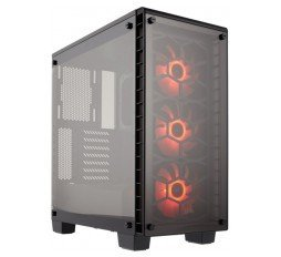 Slika izdelka: Corsair Crystal Series 460X RGB Compact ATX Mid-Tower Case, SP120 RGB LED fans