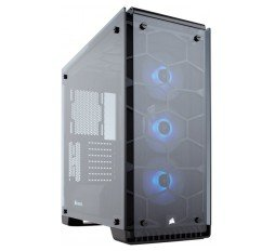 Corsair Crystal Series 570X RGB, Tempered Glass, Premium ATX Mid-Tower, SP120 RGB LED fans with LED controller slika