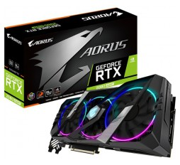 Slika izdelka: GIGABYTE Video Card NVidia GeForce RTX 2080 SUPER AORUS GDDR6 8GB/256bit, 1815 MHz/15500MHz, PCI-E 3.0 x16, 3xDP, 3xHDMI, USB Type-C, WINDFORCE 3X Cooler