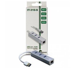 Slika izdelka: INTER-TECH Argus IT-310-S RJ45/3xUSB3.0 LAN adapter