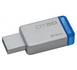Kingston Usb ključ 64GB Data Traveler R30G2 USB3.0 RUBBER črno/moder slika