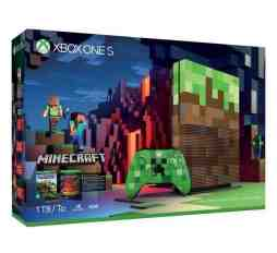 Microsoft Xbox One S - Minecraft Limited Edition BundleXbox One S Limited Edition 1TB Console Wireless Controller Minecraft digital code +redstone pack bonus code  Xbox Vertical Stand 1-month Xbox 14-day live gold trial,hdmi  slika