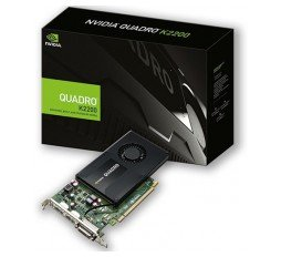 Slika izdelka: PNY NVIDIA Video Card Quadro K2200 GDDR5 4GB/128bit, PCI-E 2.0 x16, DVI-D, 2xDP, Cooler, Single Slot, Retail