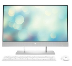 "Slika izdelka: Računalnik HP All-in-One 27-DP0019NY R5 / 8GB / 256GB SSD / 27"" FHD IPS / Windows 10 Pro (svetlo srebrn)"