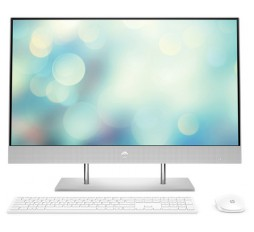 "Slika izdelka: Računalnik HP All-in-One 27-DP0019NY R5 / 8GB / 256GB SSD / 27"" FHD IPS / Windows 10 (svetlo srebrn)"