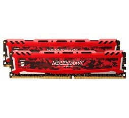 Slika izdelka: RAM DDR4 16GB Kit (2x 8) PC4-25600 3200MT/s CL16 SR x8 Crucial BX Sport LT RED