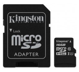 Slika izdelka: SDHC KINGSTON MICRO 16GB CANVAS SELECT, 80