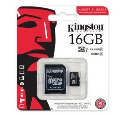 Slika izdelka: Spominska kartica micro SD KINGSTON 16GB INDUSTRIAL, UHS-I Speed Class1 (U1)
