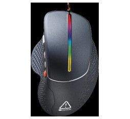 Slika izdelka: Wired High-end Gaming Mouse with 6 programmable buttons, sunplus optical sensor, 6 levels of DPI and up to 6400, 2 million times key life, 1.65m Braided USB cable,Matt UV coating surface and RGB lights with 7 LED flowing mode, size:123*81*53mm, 150g